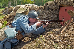 Trench sniper Royalty Free Stock Photos