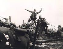 Trench warfare Stock Photo