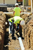 Trench Work Stock Image
