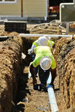 Trench Work Stock Photography