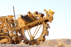 Trencher. Large trenching machine in the Las Vegas Nevada desert Royalty Free Stock Photo