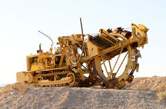 Trencher. Large trenching machine in the Las Vegas Nevada desert Stock Images