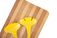 Trencher and kitchen tools Stock Images