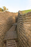 The trenches of the battlefield at Vimy France. Royalty Free Stock Photo