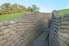 The trenches on battlefield of Vimy ridge France. Royalty Free Stock Images