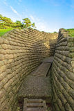 The trenches on battlefield of Vimy ridge France. Royalty Free Stock Photos