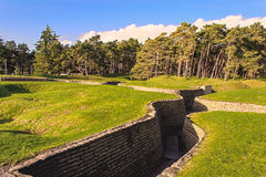 The trenches on battlefield of Vimy ridge France. Royalty Free Stock Photography