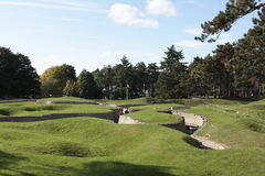 Trenches in Canadian National Vimy Memorial Park Stock Photos