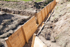 Trenches for combat Stock Images