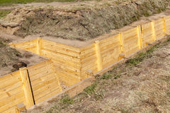 Trenches for combat Stock Photos