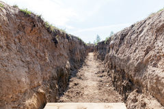 Trenches for combat Royalty Free Stock Photography