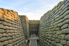 The trenches and craters on battlefield of Vimy ridge. Stock Image