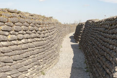 Trenches of death WW1 sandbag flanders fields Belgium Royalty Free Stock Photography