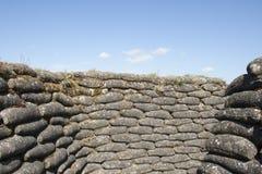 Trenches of death WW1 sandbag flanders fields Belgium Stock Photo
