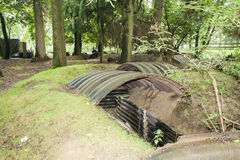 Trenches of the First World War in belgium. stock photography