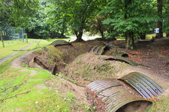 Trenches of the First World War in belgium. stock image