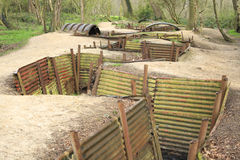 Trenches Flanders Fields Ypres great world war Stock Image