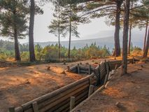 Trenches of Gallipoli. Tenches on the Gallipoli battlefield from 1915 Royalty Free Stock Photos