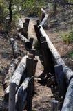 Trenches at Chunuk Bair near Anzac Cove, Gallipoli, Turkey Royalty Free Stock Image