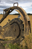 Trenching machine Royalty Free Stock Images
