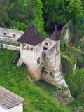 Trencin城堡的设防,斯洛伐克 免版税库存图片