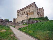 Trencin城堡,斯洛伐克宫殿  免版税库存图片