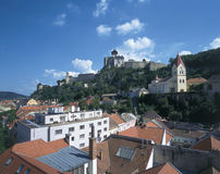 Trencin. Overview of Trencin, Slovakia, Europe royalty free stock photo