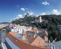 Trencin. Castle and church, Trencin, Slovakia Stock Images