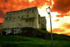 Trencin castle 2. Castle in trencin at sunset Stock Images