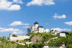 Trencin Castle stock photo
