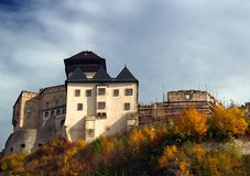 Trencin Castle. Ancient medieval castle at Trencin, Slovakia royalty free stock image