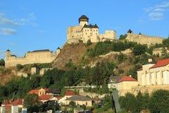 Trencin. Castle on the hill, Slovakia Stock Photo