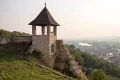 Trencin castle lookout ruin Royalty Free Stock Photos