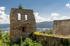 Trencin castle Royalty Free Stock Images