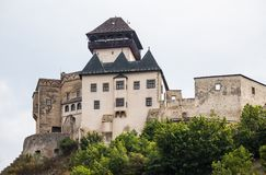 Trencin in Slovakia. Old castle in Trencin. Stock Images