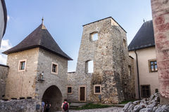 Trencin Castle Slovakia stock images