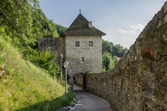 Trencin Castle Slovakia Stock Photo