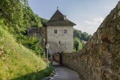 Trencin Castle Slovakia stock photo