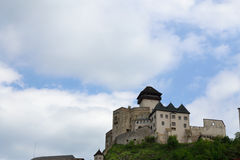 Trencin Castle. In Slovakia suitable as abstract background Stock Photo