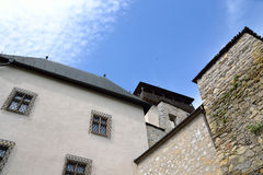 Trencin Castle. In Slovakia suitable as abstract background Royalty Free Stock Photo