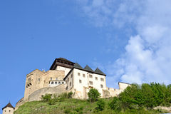 Trencin Castle. In Slovakia suitable as abstract background Royalty Free Stock Image