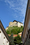 Trencin Castle. In Slovakia suitable as abstract background Stock Photos