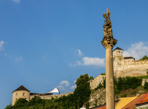 Trencin Castle Village Stock Images