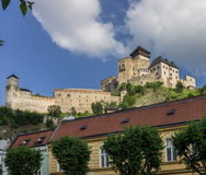 Trencin Castle Village royalty free stock images