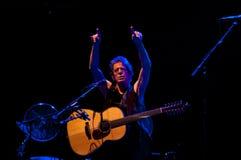 TRENCIN, ESLOVÁQUIA - 7 DE JULHO: Lou Reed executa na música de Pohoda Foto de Stock