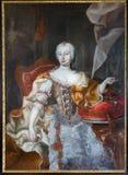 Trencin - farba królowej Maria Theresia formy Trencin kasztel Zdjęcia Stock