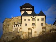 TRENCIN-Schloss - ist eins der besuchten Schl?sser in Slowakei lizenzfreie stockfotos