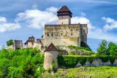 Trencin-Schloss, Slowakei stockfotos