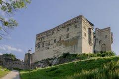 Trencin slott Slovakien Royaltyfria Foton