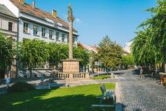 Trencin city, Slovakia stock photography
